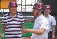 北京城建亚泰集团领导到清华大学CBD校区施工现场调研工作